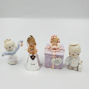 Precious Moments Lot Mini Figurines Bell Trinket